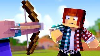 Minecraft REVERSO #04:  FUI DESCOBERTO !! TOMEI UMA FLECHADA 😱