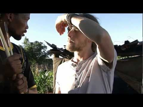 Sjoerd speaking Dutch to a Bushman in the Northern Cape, South Africa