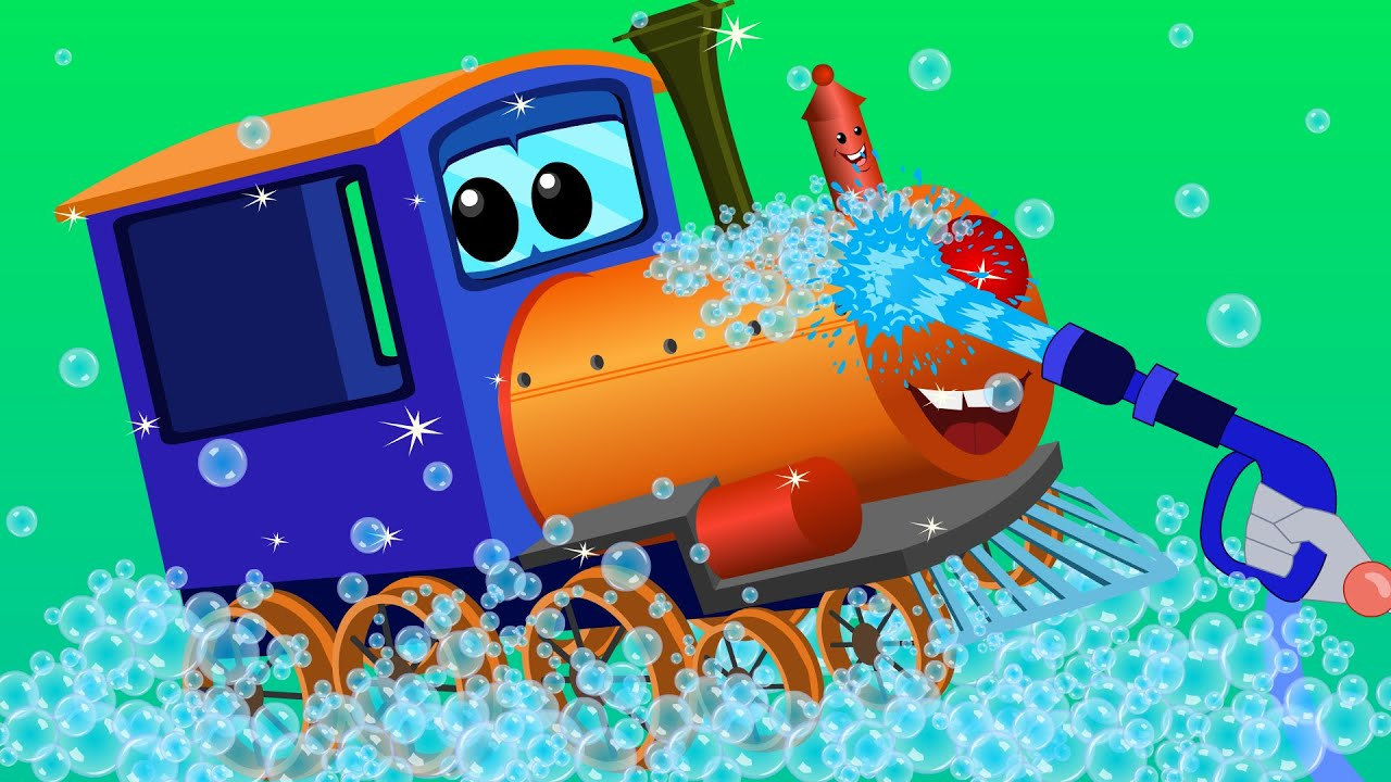 train car wash car cartoons for children kids video youtube