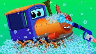 train car wash | car cartoons for children | kids video(VISIT OUR OFFICIAL WEBSITE : https://www.uspstudios.co/ WATCH KIDS CHANNEL VIDEOS ON OUR WEBSITE TOO ..., 2016-08-29T14:00:02.000Z)
