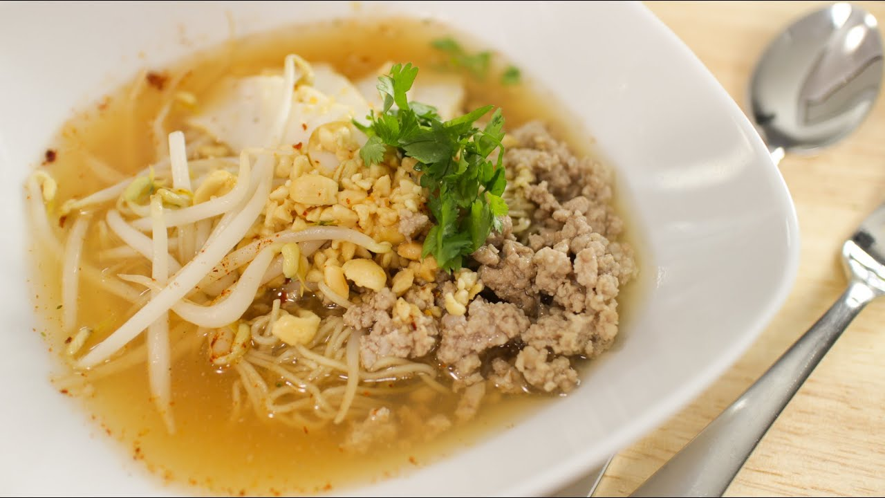 Tom Yum Noodle Soup Recipe Hot Thai Kitchen Youtube