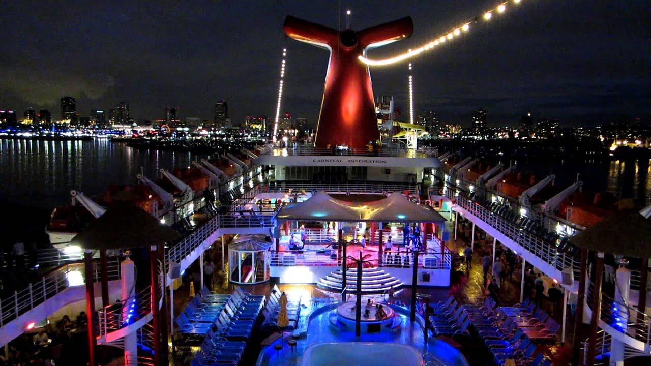 Carnival Inspiration Cruise Ship Casting Off To Ensenada