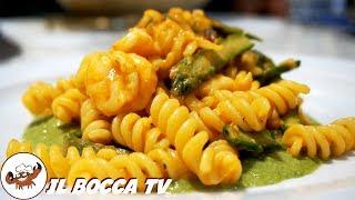 514 - Fusilli asparagi e gamberetti...o se vuoi gli spaghetti! (primo di pesce sfizioso e delicato)