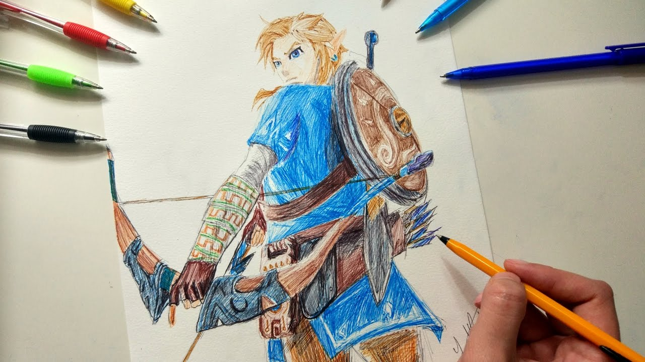 It's just a photo of Intrepid Breath Of The Wild Drawing