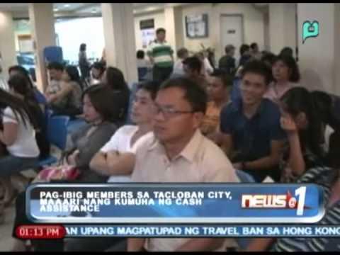 News@1: Pag-IBIG members sa Tacloban City, maaari nang kumuha ng cash assistance