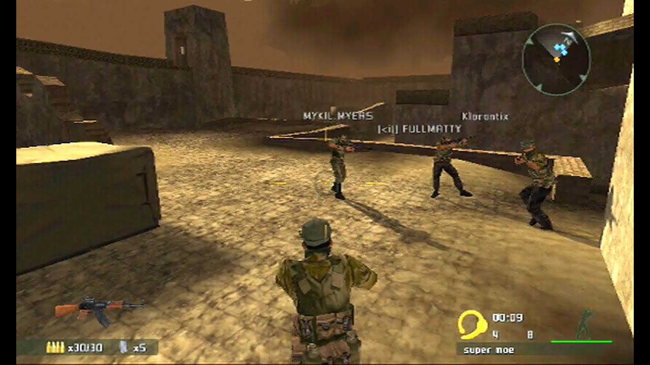 SOCOM Combined Assault PS2 Online 2018 - Killing Fields / Suppression |  XLink Kai