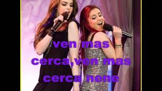 ariana y liz give it up.traducida en español