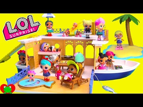 LOL Surprise Dolls Seaside Cruiser House Boat Vacation Surprises