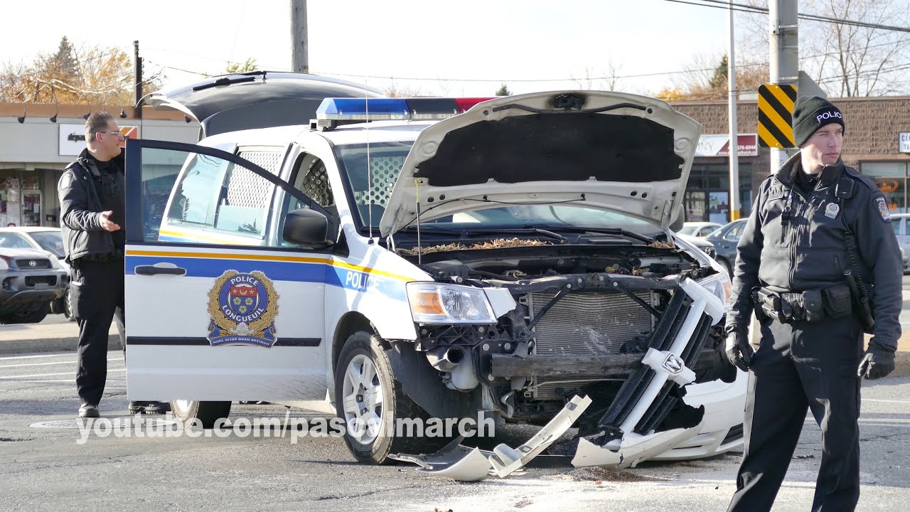 Police crash k9 unit vs honda civic accident d auto ma tre chien 11 14 2014 youtube
