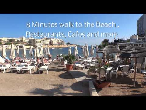Apartment to rent in St Julians Malta - Short Holiday Rentals (E006)