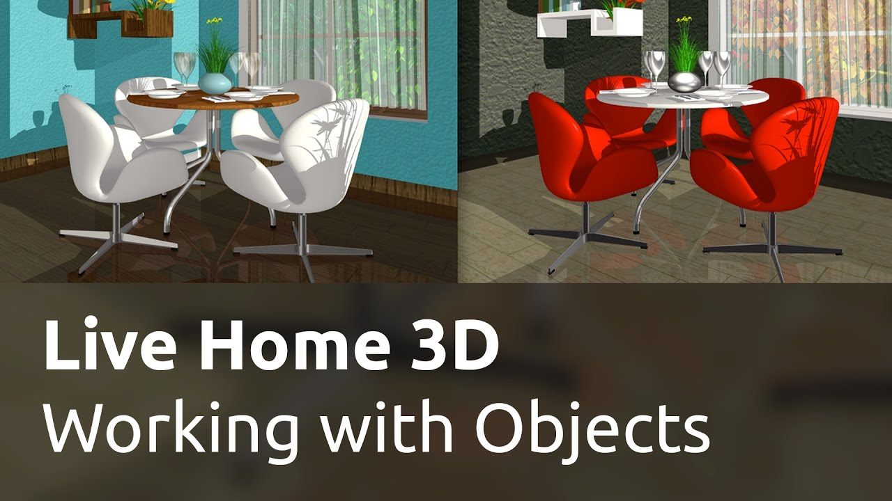 Live Home 3D for Windows Tutorials - Working with Objects