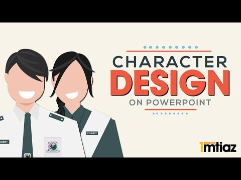How to make a Cartoon Character/Avatar Design Profile picture in Powerpoint