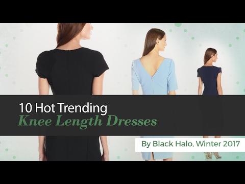 10 Hot Trending Knee Length Dresses By Black Halo, Winter 2017