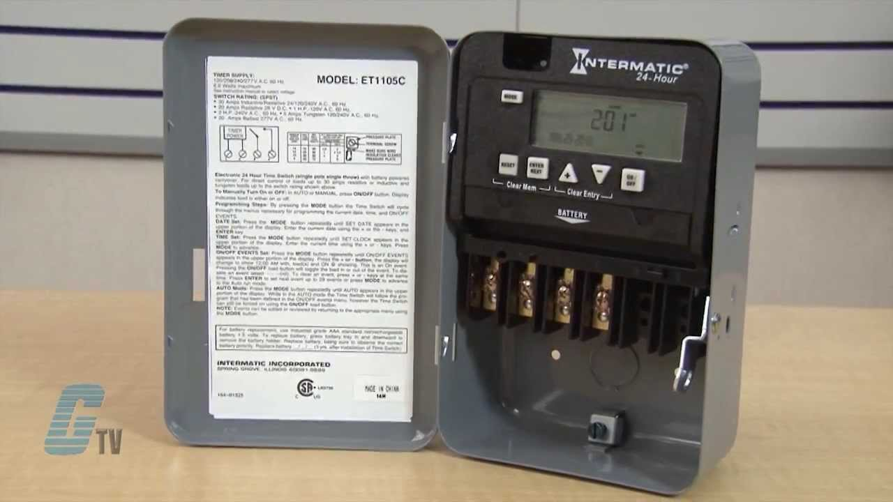 intermatic et1100 series 24 hour time switch timing relay [ 1280 x 720 Pixel ]
