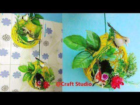 DIY Woolen Nest Wall Hanging | Wool craft | Yarn Craft | Wall Hanging