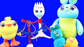Toy Story 4 Making Forky ! Ducky And Bunny Toys ! Arts And Crafts