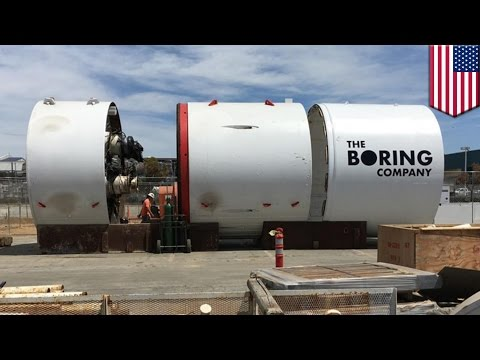 Elon Musk's tunnel project: Tunnel boring machine revealed by SpaceX employee - TomoNews