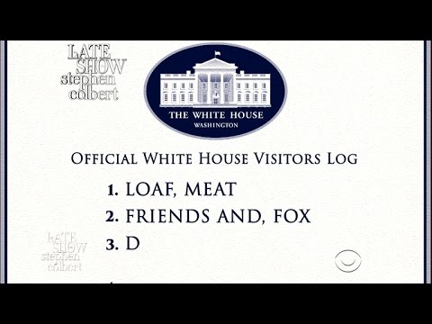 The White House Visitor Log, Exposed! - YouTube