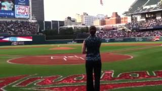 Tara Handrich - Cleveland Indians National Anthem 8/6/2013