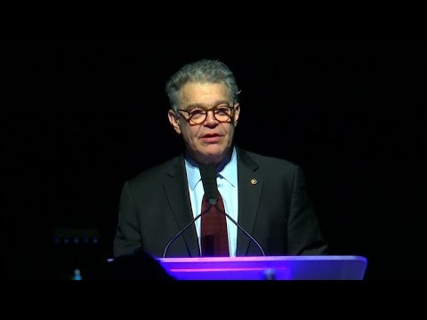 Sen. Al Franken thanks supporters