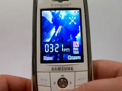 Samsung SGH-D806 & SGH-D807 Erase Cell Phone Info - Delete Data - Master Clear Hard Reset