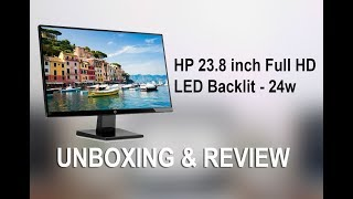 HP 23.8 inch Full HD LED Backlit - 24w Monitor (Black) Unboxing flipkart purchase