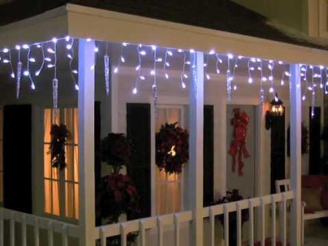Lightshow 87 Count Led Shooting Star Icicle Christmas Lights Ss80599g