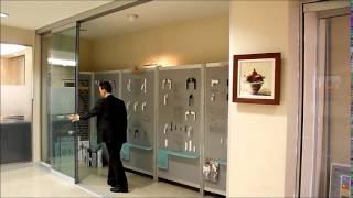 Телескопические раздвижные стеклянные двери Elephant Kayar sliding(Турецкая раздвижная система для стеклянных дверей. Такие двери могут применяться как для внутренних целей..., 2014-03-30T09:47:45.000Z)
