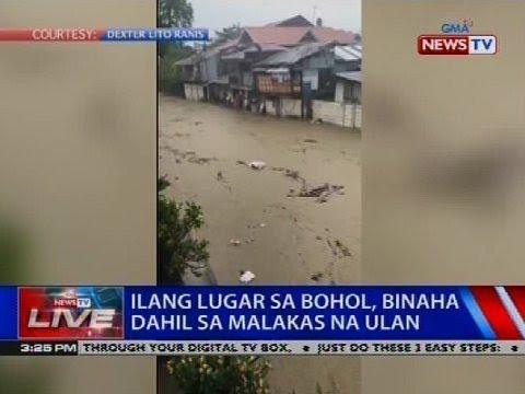 Ilang lugar sa Bohol, binaha dahil sa malakas na ulan