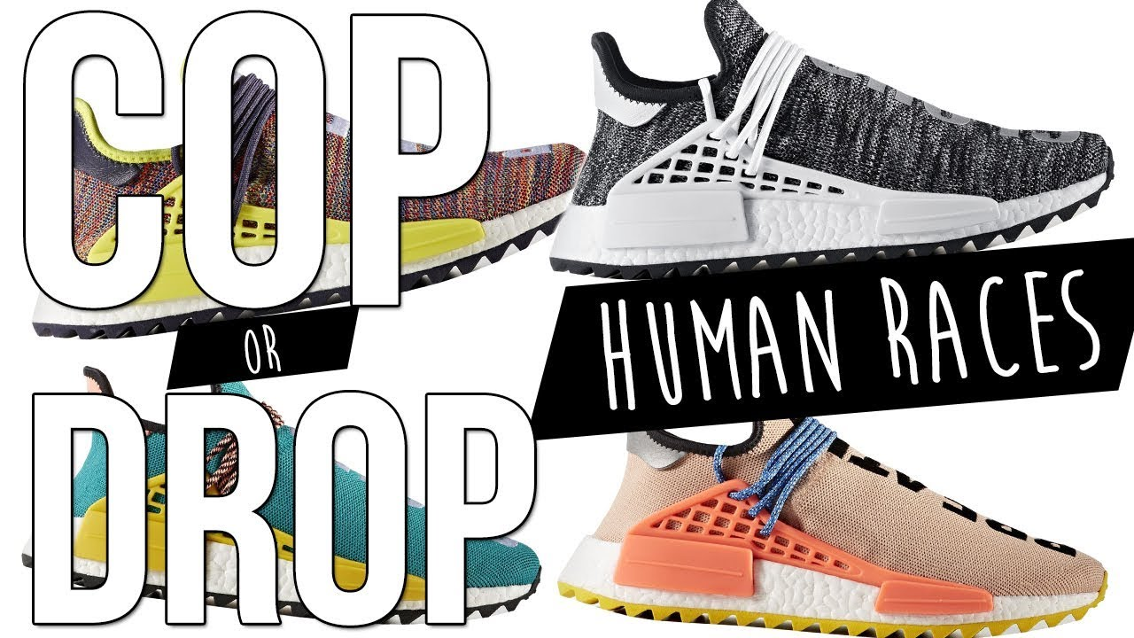 1c17ffe49439 ADIDAS PHARRELL WILLIAMS HUMAN RACES TRAILS    COP OR DROP! - YouTube