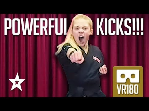 KARATE KID Jesse Jane McParland From Britain's Got Talent Jumps Into Action! VR180 Got Talent Global