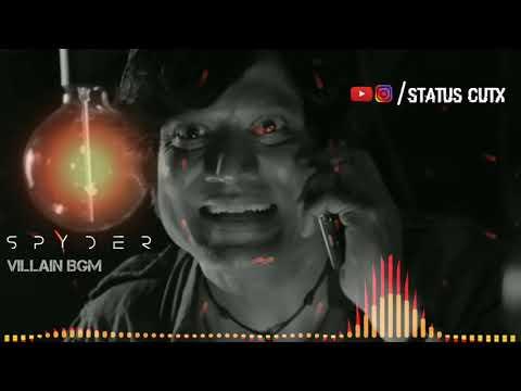 #BGM Spyder Villain BGM | SJ SURYA | WhatsApp Status 30 Sec's