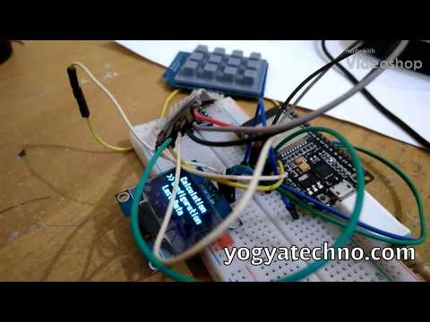 How to use keypad matrix 3x4 and oled display 1 3in with