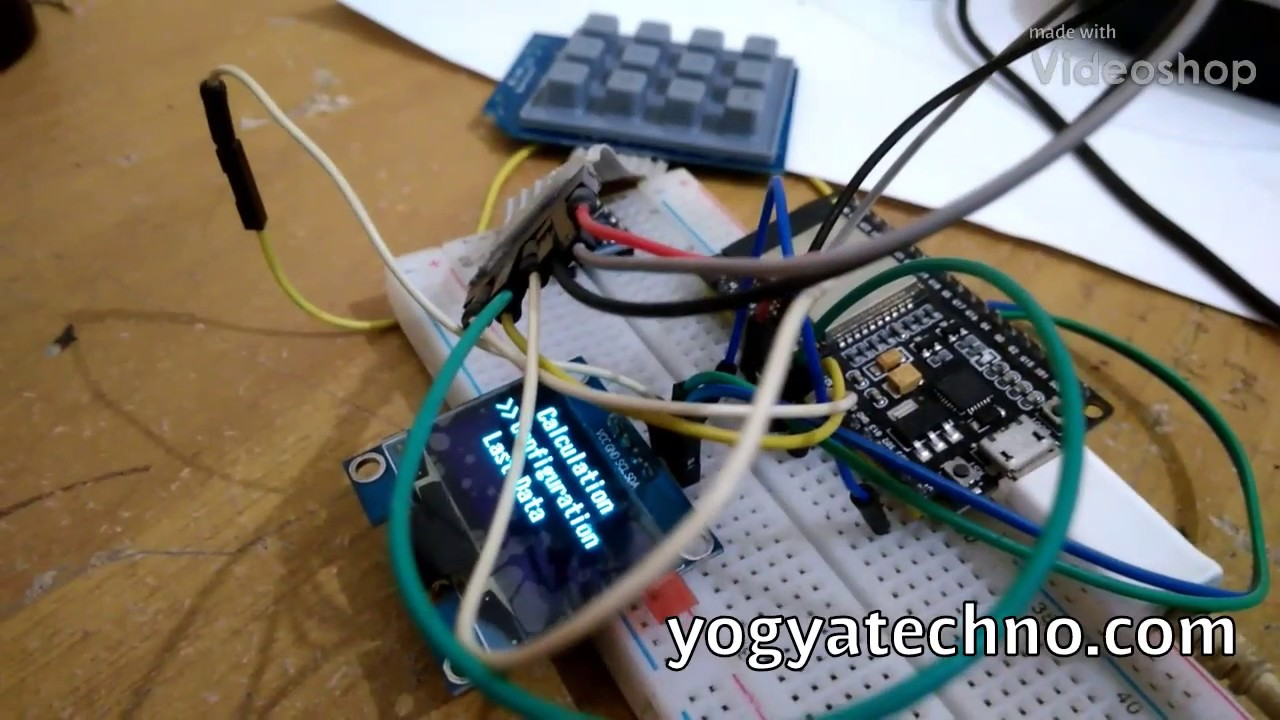 How to use keypad matrix 3x4 and oled display 1 3in with ESP32 in