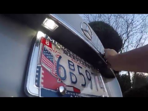 How to Install LED License Plate Bulbs Mercedes W204 C-Class