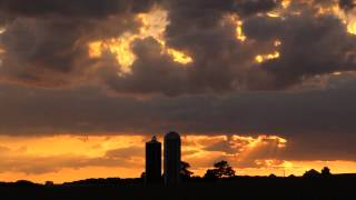 Sunset On An Ogemaw County Dairy Farm In West Branch, Michigan