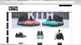 Kith NYC Bot For Sale SneakerHeadBots Updated 2014