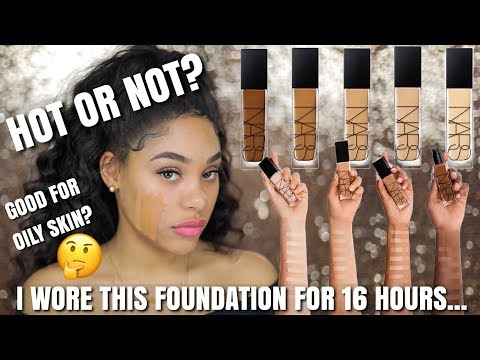 I TESTED THE NEW NARS NATURAL RADIANT LONGWEAR  FOUNDATION FOR 16HRS AND.....
