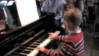 Wyatt, age 8, Burgmuller Op. 100,
