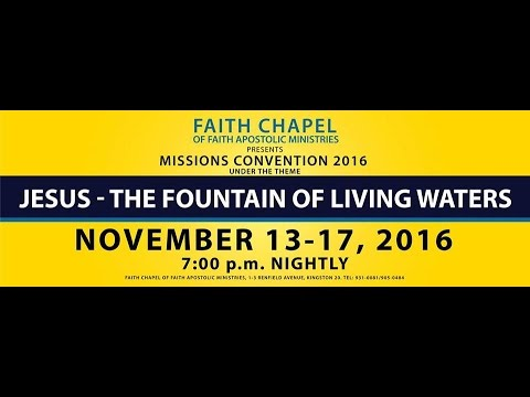 Mission Convention 2016 - Nov 13, 2016 [Sunday Morning] Speaker: Apostle Donald Purge