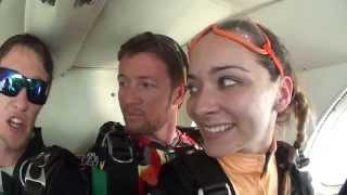 Breitling Wingwalker Danielle Hughes skydiving!