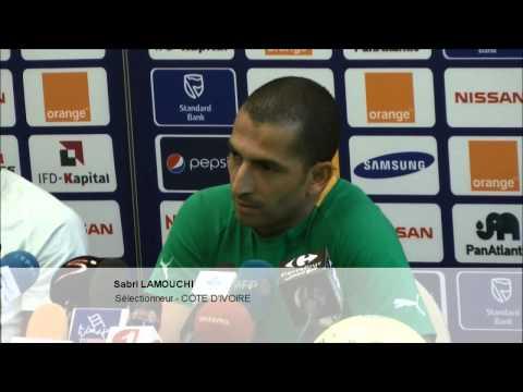 Sabri Lamouchi face à la presse le 25 janvier 2013 à Rustenburg .wmv
