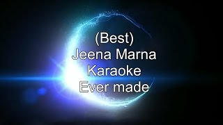 Jeena Marna Do Lafzon Ki Kahani Karaoke/Instrumental with Lyrics + Download link in the description.