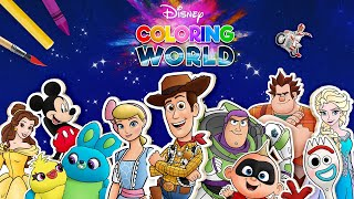 Toy Story 4 in Disney Coloring World!