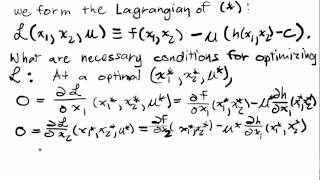Constrained Optimization Lecture I Part 3: The Lagrangian