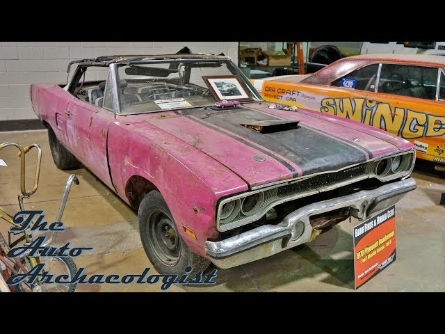 MCACN Barn Finds:  HOLY GRAIL Pink 1970 Road Runner Convertible