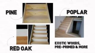 Long Island Stair Builder And Prefab Basement Wood Stair Kits