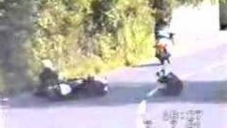 2 motor bikes crash