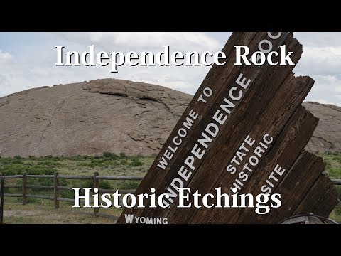 Independence Rock - Historic Etchings - Vlogging Wyoming 09
