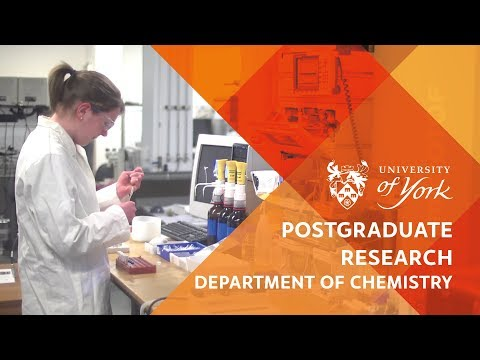 Postgraduate Research in the Department of Chemistry